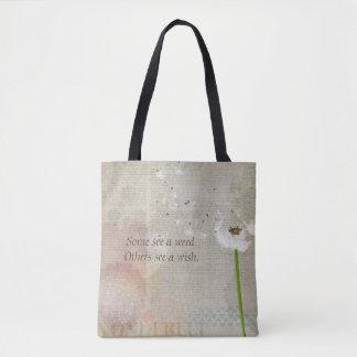 Weeds & Wishes (Newsprint) Handbag / Tote