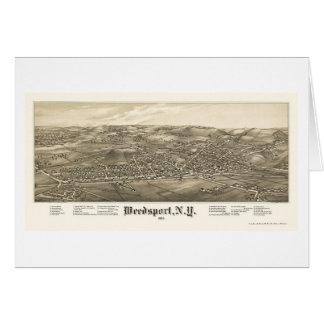 Weedsport mapa panorámico de NY - 1885 Felicitaciones