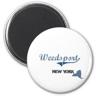 Weedsport New York City Classic 2 Inch Round Magnet