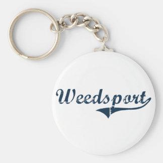 Weedsport New York Classic Design Basic Round Button Keychain