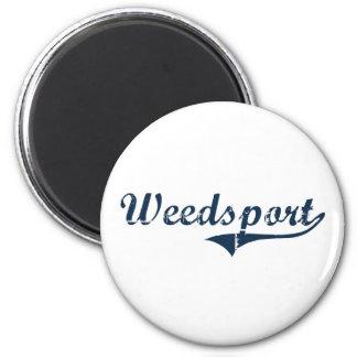 Weedsport New York Classic Design Magnet