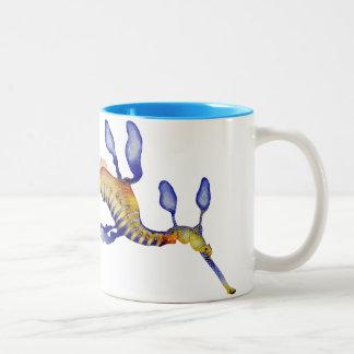 Weedy Seadragon Two-Tone Coffee Mug