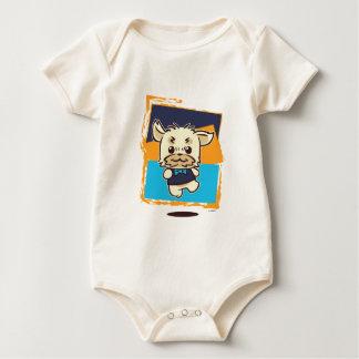WEEFEI™ STRIPE BACKGROUND BABY BODYSUIT