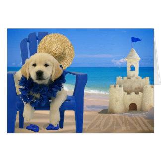 Week 8 - Beach Donnie Greeting Card