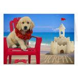 Week 8 - Beach Murphy Greeting Card