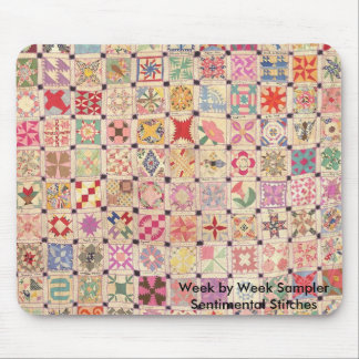 Week by Week Sampler Mouse Pad