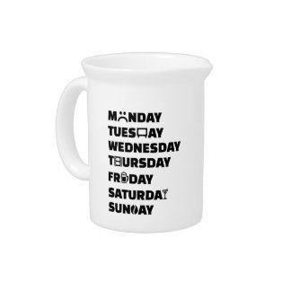 Week planner hobbies to do list drink pitchers