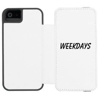 weekdays wallet case for iPhone SE/5/5s