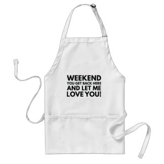 Weekend Adult Apron