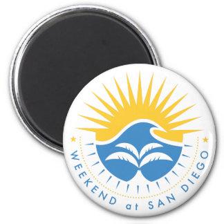 Weekend At San Diego 2 Inch Round Magnet