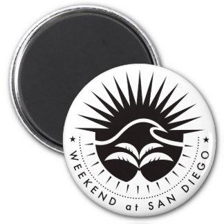 Weekend At San Diego - Black 2 Inch Round Magnet