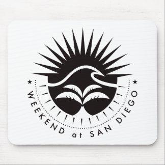 Weekend At San Diego - Black Mouse Pad