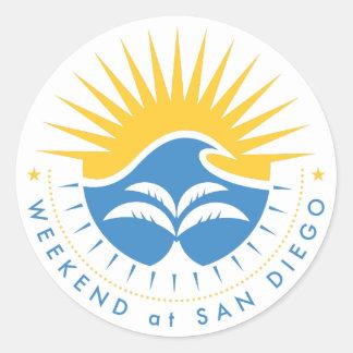Weekend At San Diego Classic Round Sticker