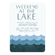 Weekend at the Lake Bachelor Party Invitations