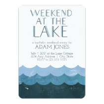 Weekend at the Lake Bachelor Party Card