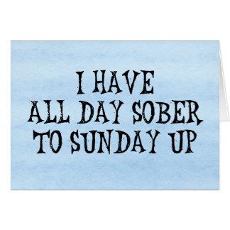 Weekend Drinking Humor Card