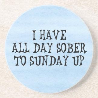 Weekend Drinking Humor Sandstone Coaster