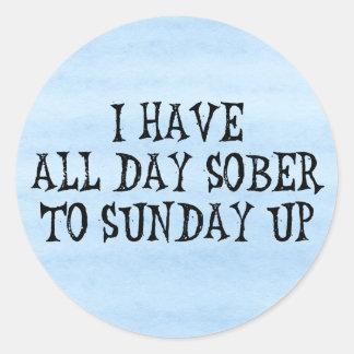 Weekend Drinking Humor Classic Round Sticker