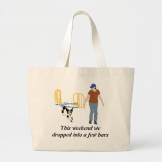 Weekend Dropping Into Bars Large Tote Bag