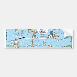 Weekend Flyers Cartoon Bumper Sticker