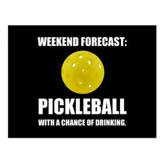 Weekend Forecast Pickleball Drinking Postcard