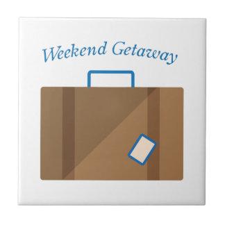 Weekend Getaway Small Square Tile