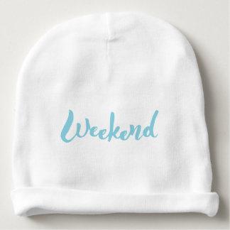 Weekend Hand Lettering Design Baby Beanie
