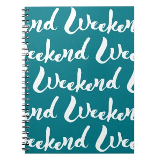 Weekend Hand Lettering Design Notebook