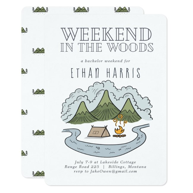 Weekend in the Woods | Bachelor Party Invitation