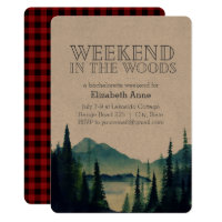 Weekend in the Woods Party Invitation