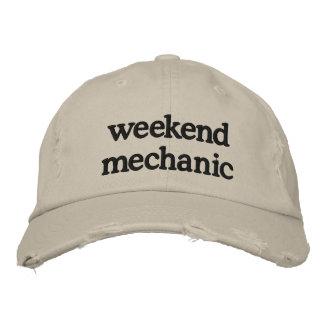 weekend mechanic embroidered baseball cap
