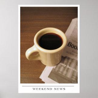 Weekend News - Send Coffee Art Poster