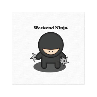 Weekend Ninja Cute Fighter Cartoon Canvas Print