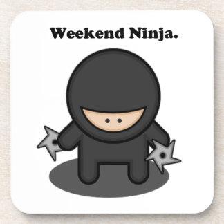 Weekend Ninja Cute Fighter Cartoon Coaster