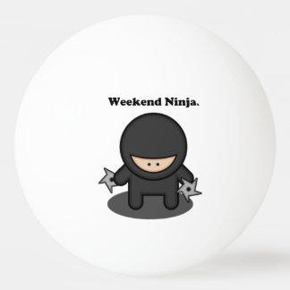 Weekend Ninja Cute Fighter Cartoon Ping Pong Ball