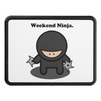 Weekend Ninja Cute Fighter Cartoon Tow Hitch Cover