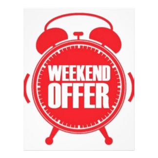weekend offer letterhead