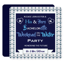 """""""Weekend on the Water"""" His & Hers Invitation"""