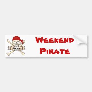 Weekend Pirate Bumper Sticker