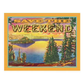 Weekend Save the date Postcard