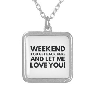 Weekend Silver Plated Necklace