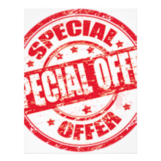 weekend special offer limited time offer only letterhead