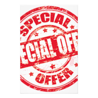 weekend special offer limited time offer only stationery