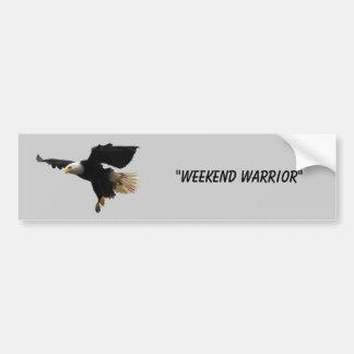 Weekend Warrior Bumper Sticker