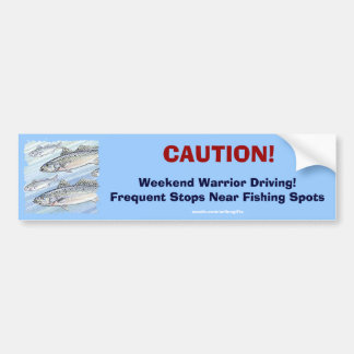 Weekend Warrior Fisherman's Fun Bumper Sticker
