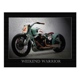 Weekend Warrior Postcard