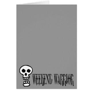 Weekend Warrior Skull Greeting Card