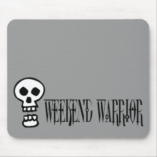 Weekend Warrior Skull Mouse Pad