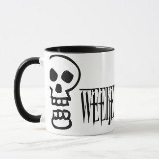 Weekend Warrior Skull Mug