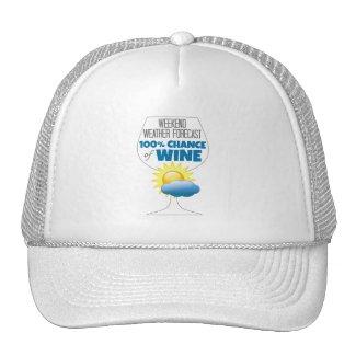 Weekend Weather Forecast 100% Chance of Wine Trucker Hat